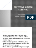 Effective Citizen Lobbying