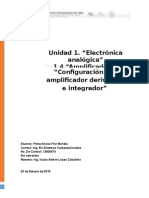 Amplificador Derivativo e Integrador