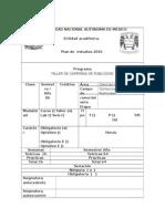 FORMATO ASIGNATURA TALLER DE CAMPAÑAS DE PUBLICIDAD