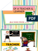 Lecture 2 Roles of a Teacher and Learner