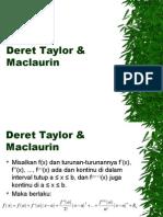 Kuliah 12 Deret Taylor Maclaurin