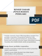 Prinsip Dasar Pengubahan Perilaku (III)