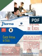 Diptico  webinar  Excel - Editorial Norma 2015
