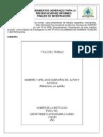 Instructivo Presentacion de Informe Final