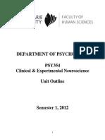 Unit Outline PSY354 2012 FINAL