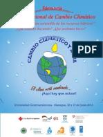 Memoria V Foro Nacional de Cambio Climático, Nicaragua, 2013