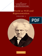 Schopenhauer, A - World as Will and Representation, Vol. 1 (Cambridge, 2010)