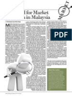 Needs of Marketing Research in Malaysia