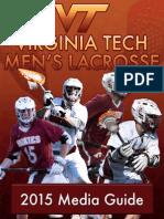2015 Media Guide | Virginia Tech Men's Lacrosse