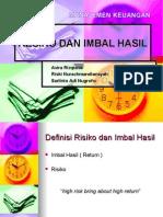 Imbal Hasil&Risiko (Kelompok 3-MGT B)