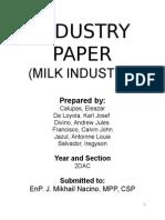 Economics Milk