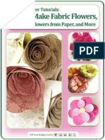 10 Free Flower Tutorials How to Make Fabric Flowers Flowers From Paper and More