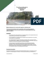 Method Statement of Work Regarding Retaining Wall