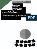 Como hacer investigacion cualitativa. Fundamentos y metodología.