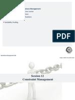 Session 12 - Constraint Management