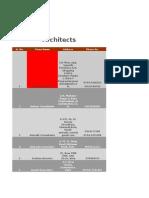 Architects - Kota - List.xlsx