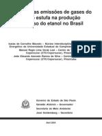 Balanço das emissões de gases do efeito estufa na produção e no uso do etanol no Brasil