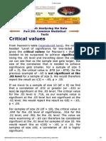 Critical Values
