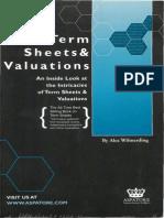 [Wilmerding, 2001] Term Sheets & Valuations