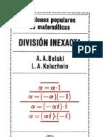 Lecciones populares de Matemáticas. División inexacta