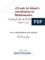 Look at Islam Contribution to Mathematics