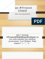7 Tips Promosi Efektif (JagoBerbisnis - Toko Buku Online BisnisFranchiseTokoOnline.com)