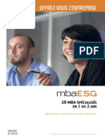 Brochure MBA ESG Rentree Octobre 2015