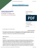 Revista chilena de pediatría - Prevalencia de Burnout en trabajadores del hospital Roberto del Río
