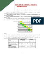 TEMA 2. Clasificación en memoria principal