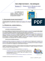 Formation Et Habilitation Electrique
