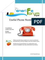 Useful Tenerife Phone Numbers