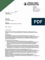 Brief CFV aan minister Blok