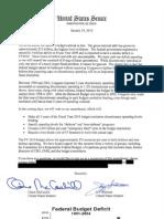 Letter on Discretionary Spending Caps