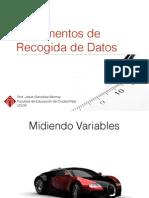 Técnicas Recogida de Datos 2015