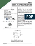 Datasheet Sensor Arus ACS712