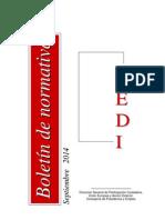 107262-Boletín Normativa Septiembre 2014 CEDI (1)