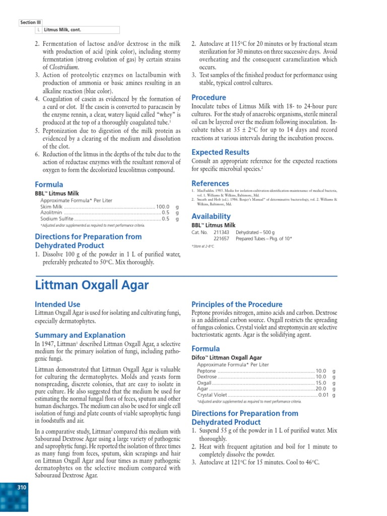 litmus milk procedural 2 essay Diagram a procedural flow chart for the litmus milk school san jacinto course title biol 125 type notes uploaded by 1767961648_ch pages 162 click to.