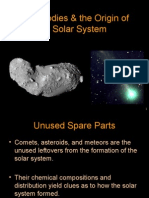 Small Solar System Bodies & the Origin of the Solar System