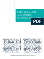 look again logo and visual identity