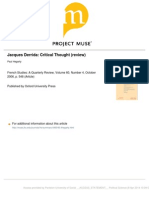 Paul Hegarty, Jacques Derrida. Critical Thought (review)..pdf