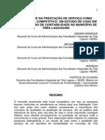 Qualidade Na Prestação de Serviço Como Diferencial Competitivo Um Estudo de Caso Em Um Escritório de Contabilidade No Município de Três Lagoasms