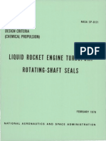 19780022641 NASA Liquid Rocket Engine TurboPump Rotating Shaft Seals