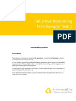 Inductive Reasoning Test1 Solutions