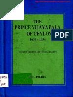 The Prince Vijayapala of Ceylon 1634-1654