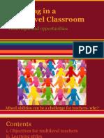Teaching ESL in a Multilevel Classroom