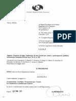 Istituzione Di Una Soc. Per Azioni Campania Entrate - R.G. 352