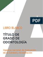 Libro blanco titulacion de grado en odontología