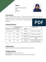 Shefa's Resume