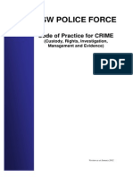 Code of Practice for CRIME