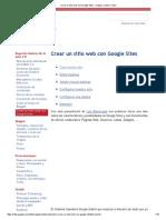 Crear Un Sitio Web Con Google Sites - Imagen, Sonido y Vídeo